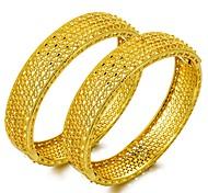 Недорогие -Браслет разомкнутое кольцо - Этнический, Массивный Браслеты Золотой Назначение Для вечеринок / Подарок