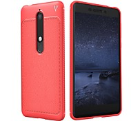 cheap -Case For Nokia Nokia 8 Sirocco / Nokia 6 2018 Embossed Back Cover Solid Colored Soft TPU for Nokia 8 Sirocco / Nokia 7 Plus / Nokia 7