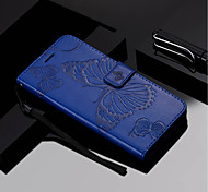 cheap -Case For Samsung Galaxy A8 Plus 2018 / A8 2018 Wallet / Card Holder / with Stand Full Body Cases Butterfly Hard PU Leather for A3(2017) /
