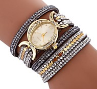 preiswerte -Damen Armband-Uhr Chinesisch Imitation Diamant / Armbanduhren für den Alltag PU Band Böhmische / Modisch Schwarz / Weiß / Blau