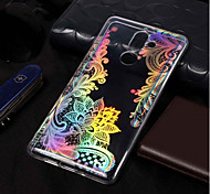 cheap -Case For Nokia Nokia 7 Plus / Nokia 6 2018 Plating / Pattern Back Cover Lace Printing Soft TPU for Nokia 7 Plus / Nokia 6 2018 / Nokia 1