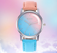 cheap -Women's Wrist Watch Chinese Color Gradient / Casual Watch Leather Band Fashion Black / Blue / Red