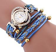 cheap -Women's Bracelet Watch Chinese Imitation Diamond / Casual Watch PU Band Heart shape / Elegant Black / White / Blue