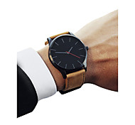 cheap -Men's Sport Watch Chinese Chronograph / Casual Watch / Cool PU Band Vintage / Minimalist Black / Brown