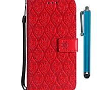 cheap -Case For Motorola MOTO G6 / Moto G6 Plus Wallet / Card Holder / with Stand Full Body Cases Flower Hard PU Leather for MOTO G6 / Moto G6