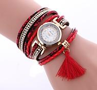 preiswerte -Damen Armband-Uhr Chinesisch Imitation Diamant / Armbanduhren für den Alltag PU Band Freizeit / Modisch Schwarz / Weiß / Blau