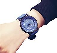 Недорогие -женские наручные часы китайский хронограф / большой кожаный ремешок кожа мода / браслет синий / серый / бежевый