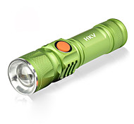 cheap -HKV LED Flashlights / Torch / Lamp LED 1000lm 3 Mode Portable / SOS Camping / Hiking / Caving / Everyday Use / Cycling / Bike Black /