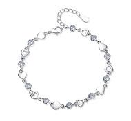 Недорогие -Браслеты-цепочки и звенья - Сердце Мода Браслеты Белый / Лиловый Назначение Для вечеринок / Для улицы
