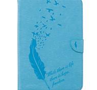 Недорогие -Кейс для Назначение SSamsung Galaxy Tab A 9.7 Бумажник для карт Кошелек со стендом С узором Авто Режим сна / Пробуждение Чехол Перья