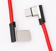Недорогие -Micro USB Адаптер USB-кабеля Плетение / Быстрая зарядка Кабель Назначение Samsung / Huawei / Nokia 120cm текстильный
