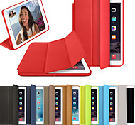 cheap -Case For Apple iPad (2018) / iPad (2017) Flip / Magnetic / Origami Full Body Cases Solid Colored Hard PU Leather for iPad (2018) / iPad