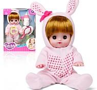 Недорогие -Интерактивная кукла Девочки 12 дюймовый Силикон - как живой Детские Девочки Подарок