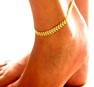 Недорогие -Ножной браслет - В форме листа Винтаж, Мода, Массивный Золотой / Серебряный Назначение Повседневные / Офис / Жен.