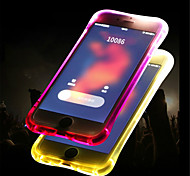 cheap -Case For Apple iPhone 8 / iPhone 8 Plus LED Flash Lighting / Translucent Back Cover Solid Colored Soft TPU for iPhone X / iPhone 8 Plus /