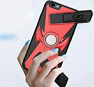 Недорогие -Кейс для Назначение Apple iPhone 8 / iPhone 8 Plus Кольца-держатели / Игровой случай Кейс на заднюю панель Однотонный Твердый ПК для