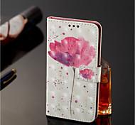 Недорогие -Кейс для Назначение Nokia Nokia 7 Plus / Nokia 6 2018 Кошелек / Бумажник для карт / со стендом Чехол Цветы Твердый Кожа PU для Nokia 7