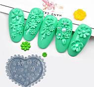 Недорогие -1 pcs Инструмент для штамповки ногтей шаблон Инструмент для ногтей Модный дизайн С цветами / Профессиональный На каждый день