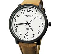Недорогие -YAZOLE Муж. Наручные часы Фосфоресцирующий / Повседневные часы PU Группа Мода / минималист Черный / Коричневый