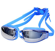cheap -Swimming Goggles Waterproof / Anti-Fog / Anti-UV Alloy Coating / PC White / Red / Gray
