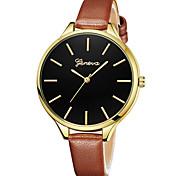 Недорогие -Geneva Жен. Наручные часы Китайский Новый дизайн / Повседневные часы / Cool Кожа Группа На каждый день / Мода Черный / Синий / Красный