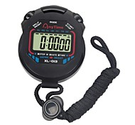 cheap -LCD Chronograph Digital Timer Sport Stopwatch Professional Handheld Digital Stopwatch Running Chronograph Counter with Strap