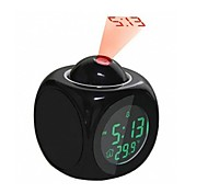 cheap -LCD Projection LED Display Time Digital Alarm Clock Talking Voice Prompt Thermometer Snooze Function