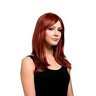 Mujer Pelucas sintéticas Medio Vino oscuro Parte lateral Con flequillo Peluca de Halloween Peluca de carnaval Las pelucas del traje
