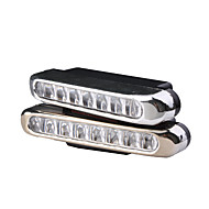 cheap -4W 8-LED White Light Car Daytime Driving Lamp (2-Pack)
