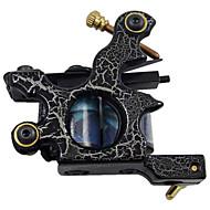 aço de baixo carbono shader máquina de tatuagem com 10 bobinas de envoltório (hb-wgd018-c)