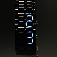 Heren Polshorloge Digitaal Kalender LED Plastic Band Zwart