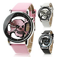 cheap -Unisex Women's Men's Watch Quartz Analog Hollow Skull Dial PU Band Halloween Wrist Watch (Assorted Colors)Strap Watches Unique Watches Fashion Watch