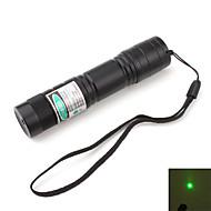 お買い得  文房具-ポータブルグリーン レーザーポインター  バッテリー&チャージャー付属 (5mw、532nm、ブラック、 16340x1)