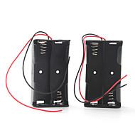 caja de la batería para cuatro baterías 18650 (negro)