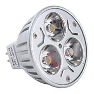 お買い得  LED スポットライト-3000lm GU5.3(MR16) LEDスポットライト MR16 3 LEDビーズ ハイパワーLED 温白色 12V