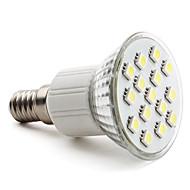 2w e14 gu10 e26 / e27 doprowadziło światło punktowe mr16 15 smd 5050 90-120lm ciepłe białe naturalne białe 6000k ac 220-240v