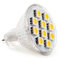 gu4 (mr11) led spotlight mr11 10 smd 5050 120lm warm wit 2800k dc 12v