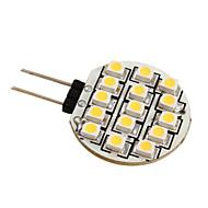 g4 3528 SMD 15-LED 0.36w lämmin valkoinen lamppu auton (DC 12V)