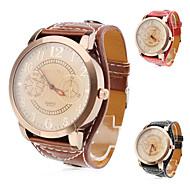 Women's Watch Fashion Big Dial PU Band Cool Watches Unique Watches Strap Watch