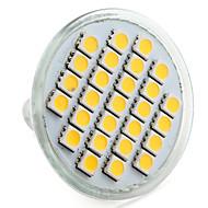 4w e14 gu10 gu5.3 (mr16) e26 / e27 led spotlight mr16 27 smd 5050 200-250lm lämmin valkoinen luonnonvalkoinen 2800k