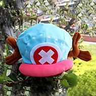 Hat/Kasket Inspireret af One Piece Tony Tony Chopper Anime Cosplay Tilbehør Kasket / Hat Blå / Lyserød Fløjl Mand