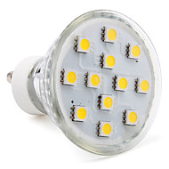 abordables LeXing-3W 80-100lm GU10 Focos LED MR16 12 Cuentas LED SMD 5050 Blanco Cálido 220-240V