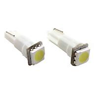 abordables Intermitentes para Coche-t5 1 * 5050 SMD LED blanco de iluminación del automóvil de la señal