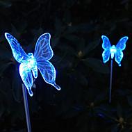 お買い得  LED ソーラーライト-太陽の色を変更するバタフライスタイルガーデンステークライト
