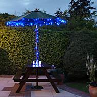 abordables Luces LED Solares-Solar de 100 luces LED azules de luz al aire libre de hadas de Navidad Decoración Lámparas