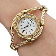 Mulheres senhoras Relógio de Moda Bracele Relógio Relógio de diamante Quartzo Dourada Analógico Brilhante Rígida - Dourado Um ano Ciclo de Vida da Bateria / SSUO 377