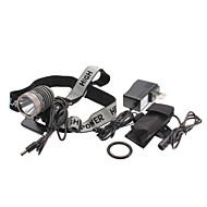 UniqueFire HD003 5-Mode do Cree T6 XM-L LED Set Farol recarregável (10w, 1000LM, Bateria + Carregador AC)