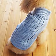 levne -kočičky / pejsky svetry Modrá Oblečení pro psy Zima Jednobarevné