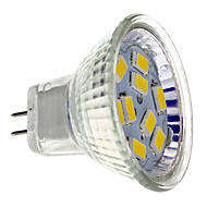 billige -2W GU4(MR11) LED-spotpærer MR11 9 leds SMD 5730 Varm hvit 200lm 2700K DC 12V