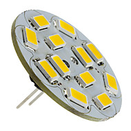 1.5w g4 led spotlight 12 smd 5730 130-150lm warm wit 2700k dc 12v